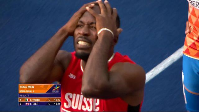 Athlétisme, 100m messieurs: déception pour Alex Wilson qui ne se qualifie pas pour la finale [RTS]