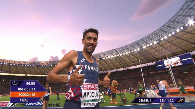 Athlétisme, 10'000m messieurs: victoire au spint pour Amdouni (FRA), Julien Wanders 6e [RTS]