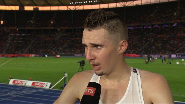 Athlétisme, 10'000m messieurs: la réaction de Julien Wanders [RTS]