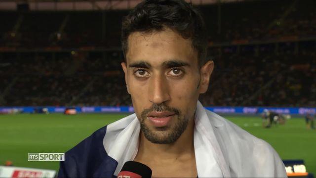 Athlétisme, 10'000m messieurs: l'interview du vainqueur Amdouni (FRA) au micro de RTSsport [RTS]