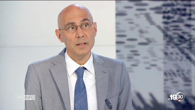 """Volker Turk du HCR """"La majorité des gens affectés par les changements climatiques ne viennent pas en Europe."""" [RTS]"""