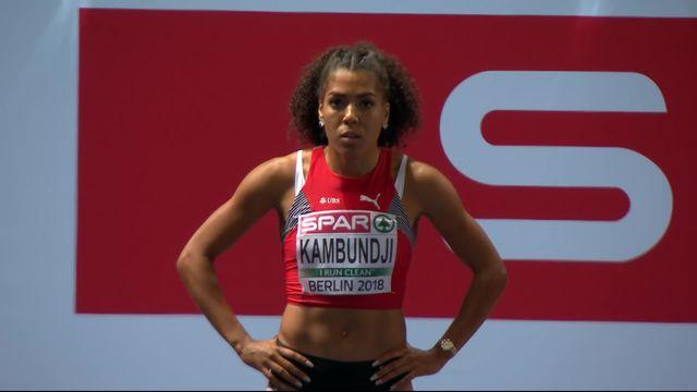 Athlétisme, 100m dames: pas de médaille pour Mujinga Kambundji (4e), Asher-Smith (GBR) championne d'Europe! [RTS]