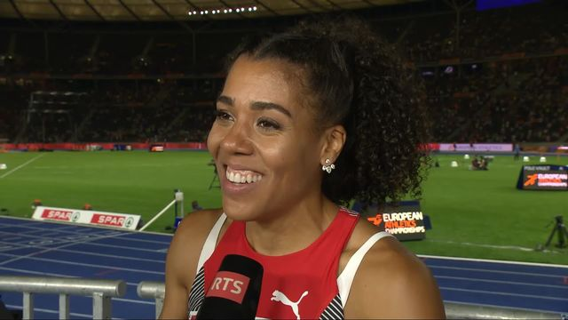 Athlétisme, 100m dames: la déception de Mujinga Kambundji au micro de RTSsport [RTS]