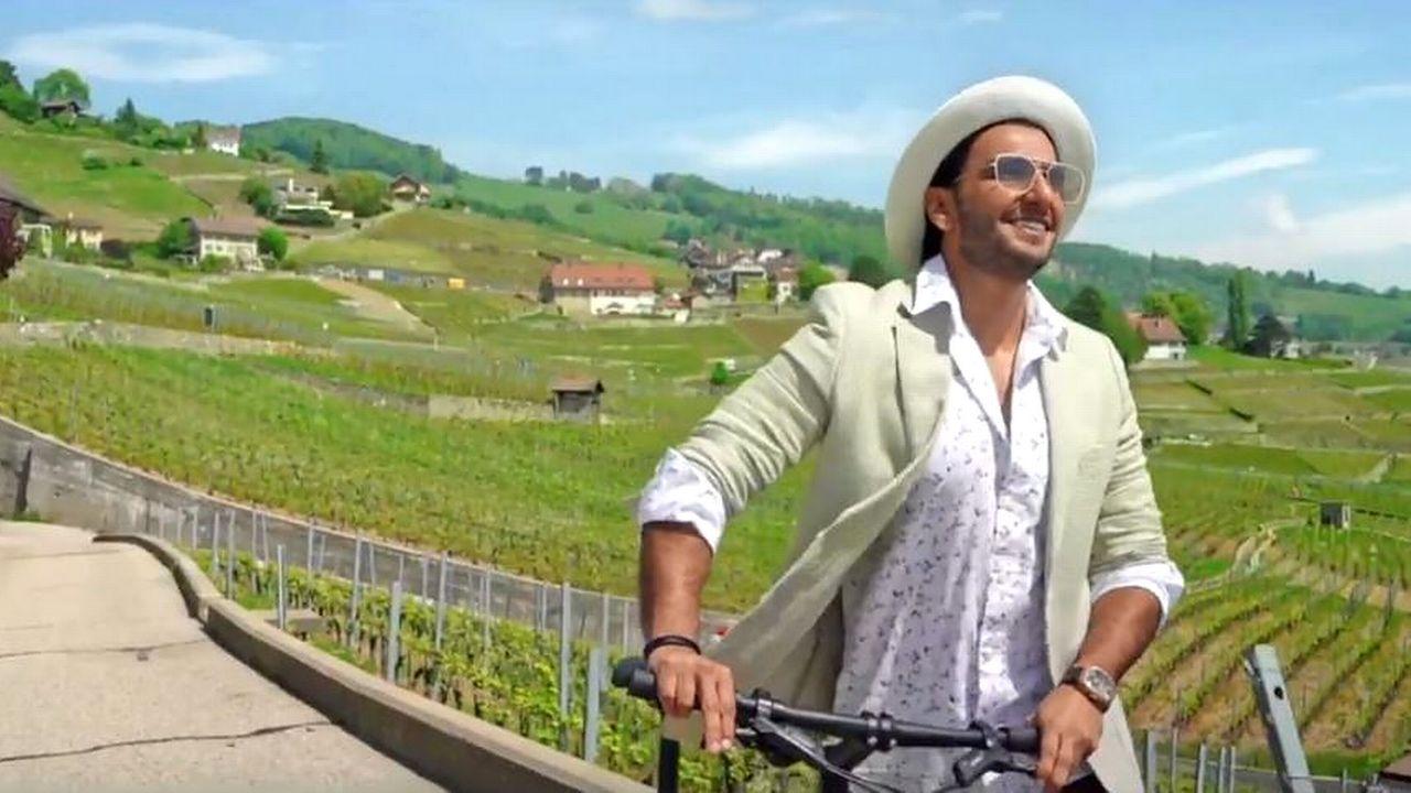 La star de Bollywood Ranveer Singh a tourné un clip dans Lavaux avant l'été. [MySwitzerland - YouTube]