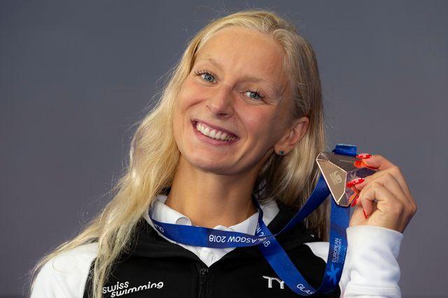 Maria Ugolkova n'a jamais fléchi durant son 200m. [Patrick Kraemer - Keystone]