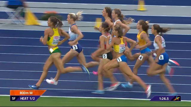 Athlétisme, 800m dames: Selina Büchel passe en finale [RTS]