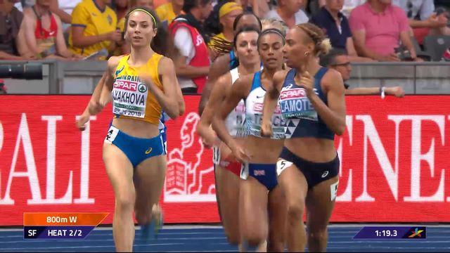 Athlétisme, 800m dames: Lore Hoffmann ne parvient pas à se hisser en finale [RTS]