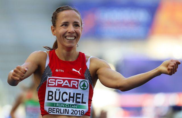 Selina Büchel a de bonnes sensations dans l'Olympiastadion. [Srdjan Suki - Keystone]