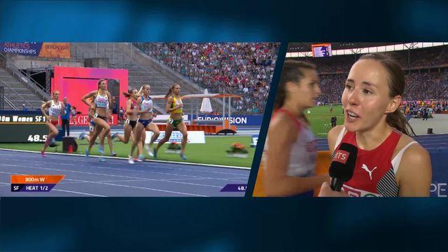 Athlétisme, 800m dames: la première réaction de Selina Büchel après sa qualification pour la finale [RTS]