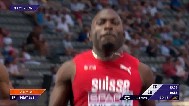 Athlétisme, 200m messieurs: Alex Wilson facile en 20.16 [RTS]