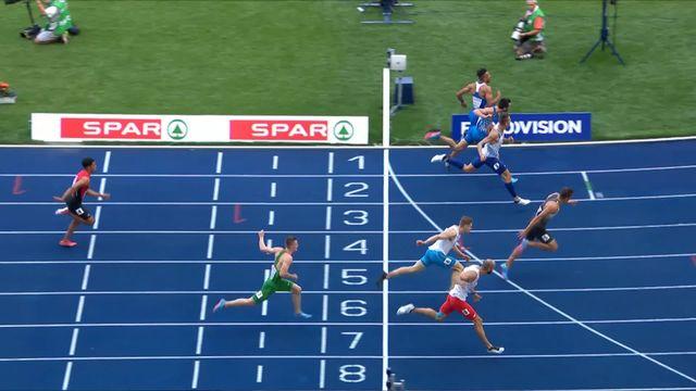 Athlétisme, 110m messieurs: Pena (SUI) manque sa course et termine dernier [RTS]