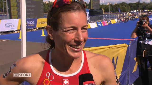 Triathlon dames: Nicola Spirig (SUI) à l'interview [RTS]