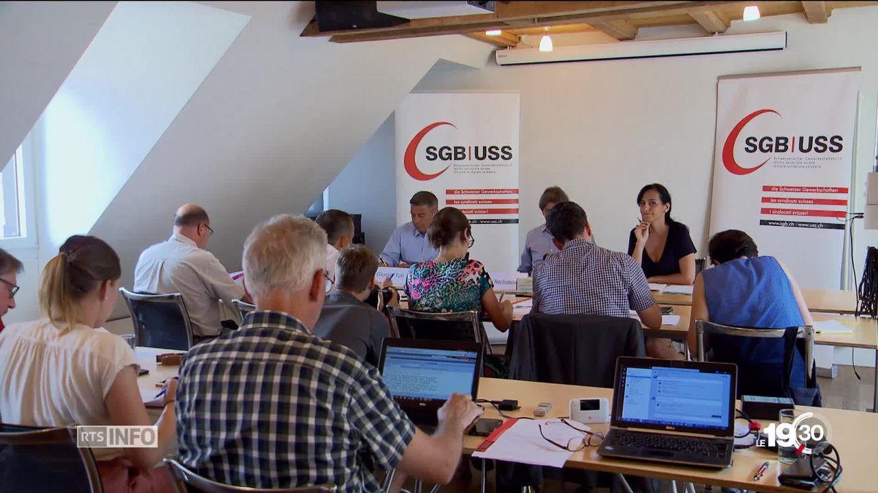 Mesures d'accompagnement à la libre circulation des personnes: Tourmente politique après le refus des syndicats de discuter [RTS]