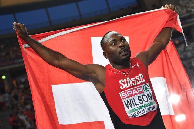 """Alex Wilson a établi un nouveau record de Suisse du 200 m en 20""""04. [Andrej Isakovic - AFP]"""