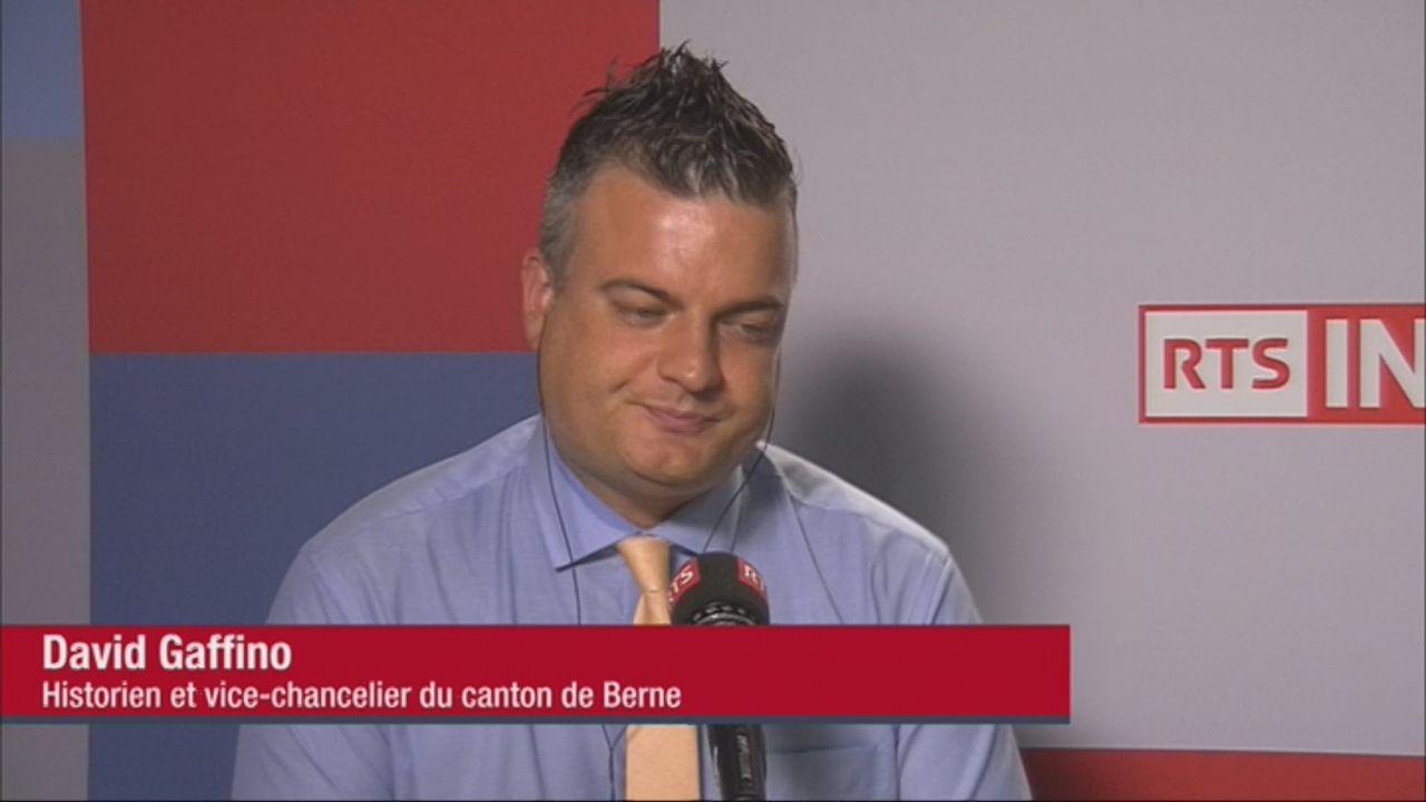 L'invité de la rédaction (vidéo) - David Gaffino, vice-chancelier du canton de Berne [RTS]