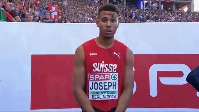 110m haies, messieurs: Jason Joseph (SUI) termine 5e de sa demi-finale en 13.53 et ne sera donc pas présent en finale [RTS]