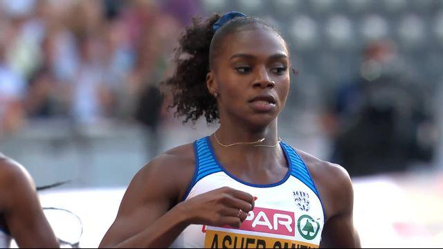 200m dames, 1ère demi-finale: la démonstration de Dina Asher-Smith (GBR) qui ne laisse aucune chance à Cornelia Halbheer (SUI) qui termine 8e [RTS]