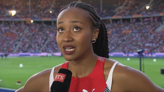 200m dames, 2e demi-finale: la tristesse de Sarah Atcho (SUI) qui manque la finale pour 1 centième ! [RTS]