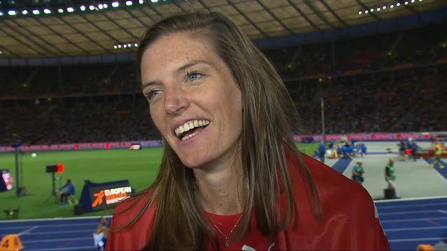 400m haies dames, finale: la joie et l'analyse de course de Léa Sprunger (SUI) après son titre européen [RTS]