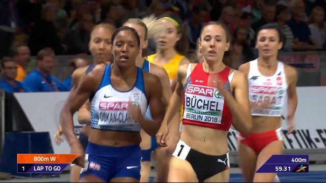 800m dames, finale: un finish très difficile pour Selina Büchel (SUI) qui termine à la 7e place. La victoire pour N.Pryshchepa (UKR) [RTS]