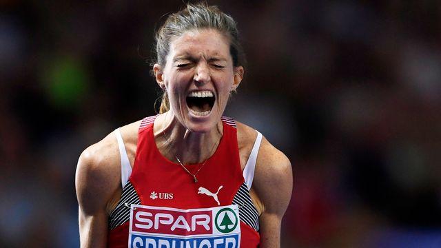 Lea Sprunger (SUI) est championne d'Europe du 400m haies [FILIP SINGER - Keystone]