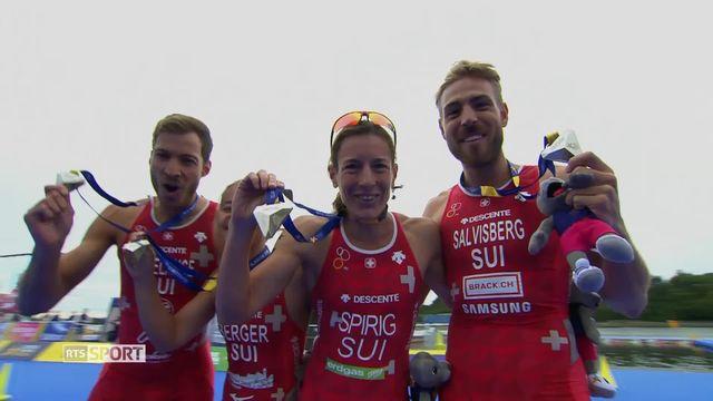 Triathlon: médaille suisse [RTS]