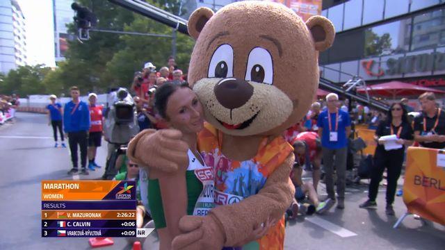 Athlétisme, marathon dames: Mazuronak (BLR) remporte le titre européen [RTS]
