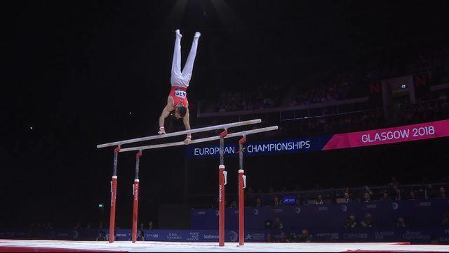 Gymnastique, barre parallèle: Oliver Hegi (SUI) [RTS]
