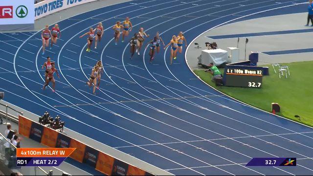 Athlétisme, 4 x 100m dames: les Suissesses se qualifient pour la finale [RTS]