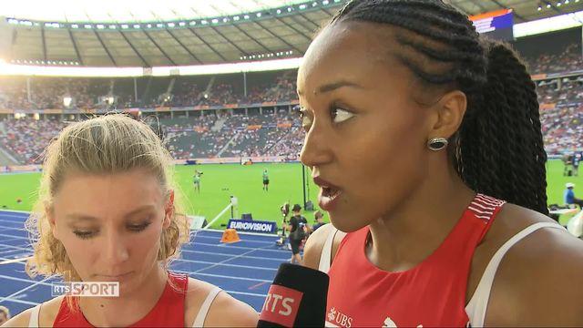 Athlétisme, 4 x 100m dames: interview des Suissesses après leur qualification en finale [RTS]