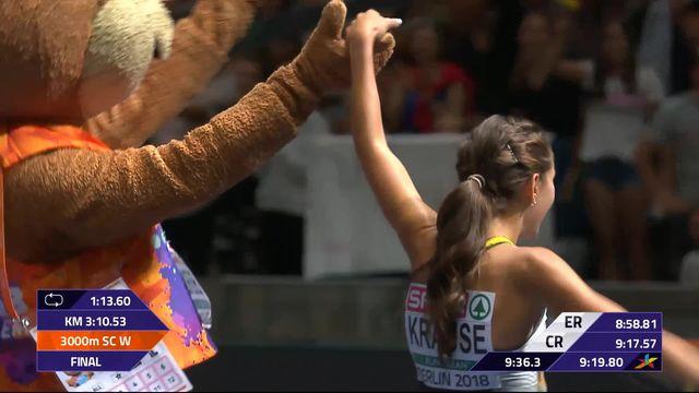 Athlétisme, 3000m steeple dames: Krause (GER) devance Schlumpf (SUI) 2e et médaille d'argent [RTS]