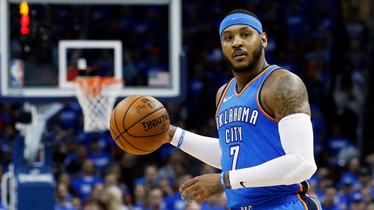 Carmelo Anthony se lance un nouveau défi en rejoignant les Rockets. [Sue Ogrocki - Keystone]