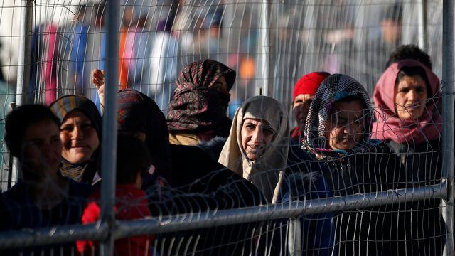 Le camp de réfugiés grec d'Idomeni, près de la frontière avec la Macédoine, en 2016. [Darko Vojinovic - Keystone]