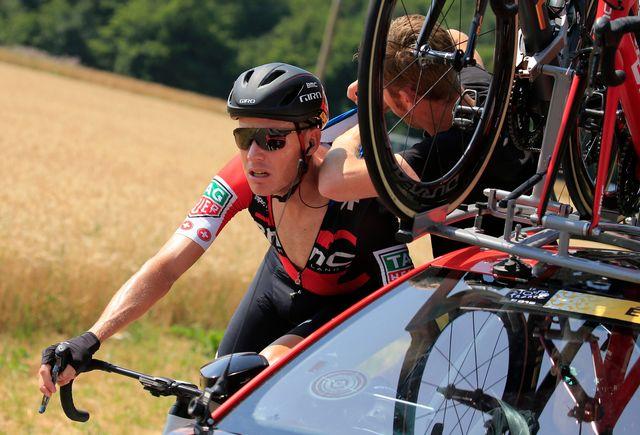 Michael Schär a terminé 90e du récent Tour de France. [Peter Dejong - Keystone]