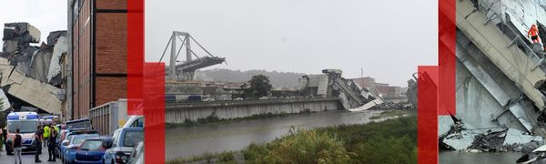 Le pont Morandi s'est effondré à Gênes.