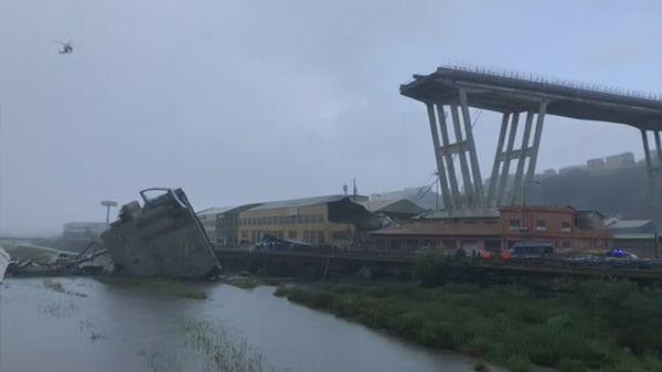 Au moins 22 morts dans l'effondrement d'un viaduc autoroutier à Gênes