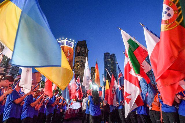 La cérémonie d'ouverture des Championnats d'Europe 2018 à Berlin. [Hendrik Schmidt - AFP/DPA]
