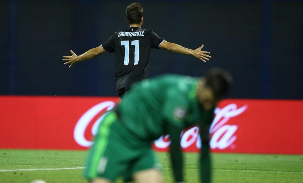 Gavranovic propulse le Dinamo Zagreb en barrages de la Ligue des champions. [Compte Twitter @gnkdinamo - RTS]
