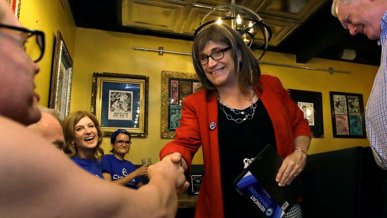 Christine Hallquist a remporté la primaire du Vermont. [Charles Krupa - AP/Keystone]