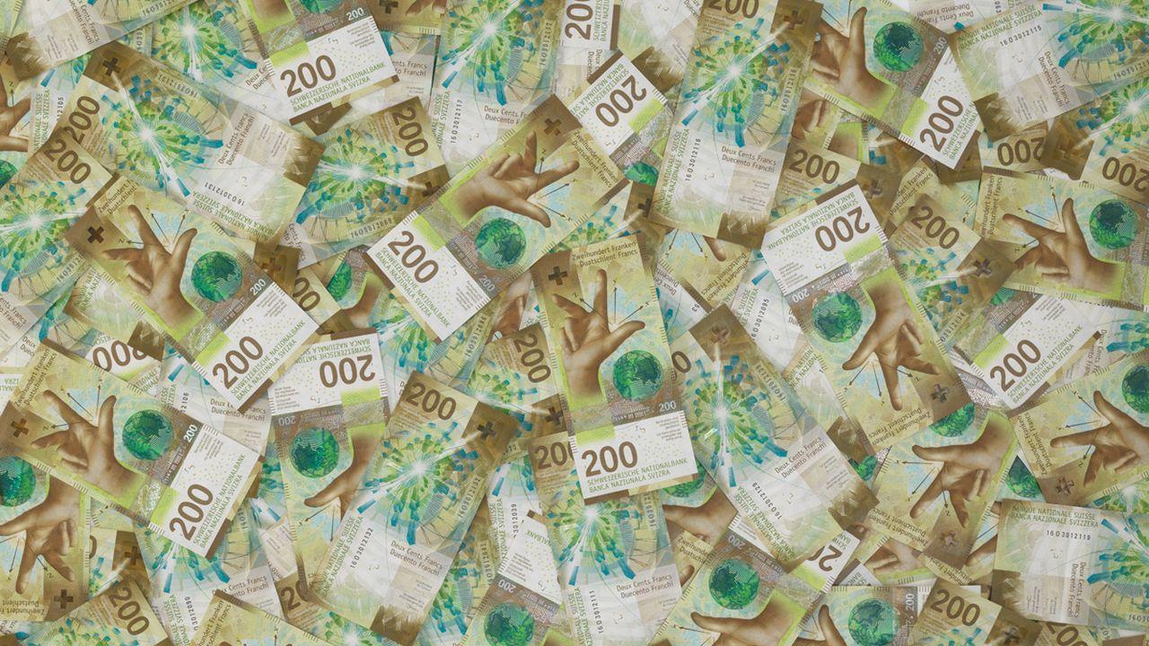 La nouvelle coupure de 200 francs présentée par la BNS. [BNS - Keystone]