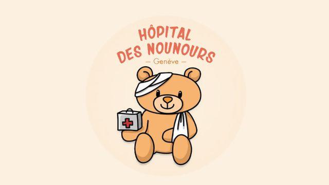 Le logo de l'Hôpital des Nounours. [Hôpital des Nounours - hopitaldesnounours.unige.ch]
