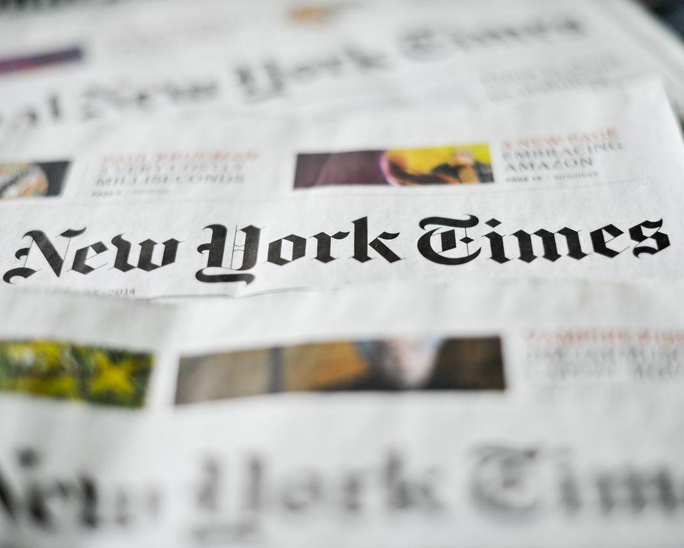 Un exemplaire du New York Times. [DPA/Ole Spata - Keystone]