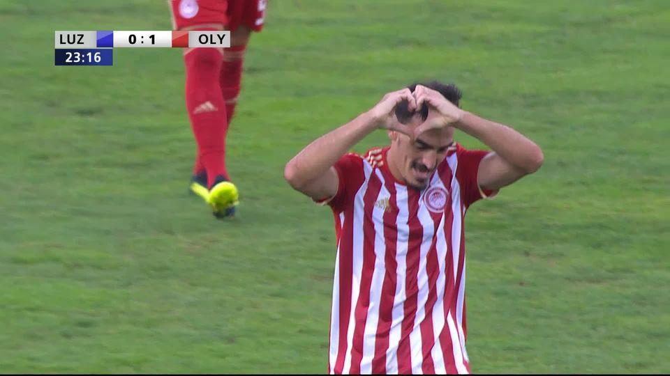 3e tour qualificatif, match retour, Lucerne - Olympiakos (0-3) [RTS]