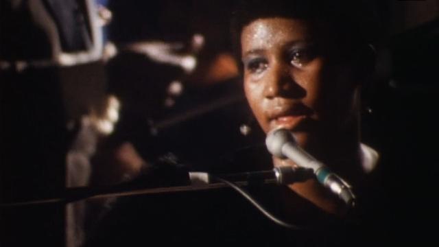 Aretha Franklin sur scène au Montreux Jazz Festival en 1971. [RTS]