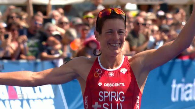 Triathlon de Lausanne: victoire de la Zurichoise Nicola Spirig [RTS]
