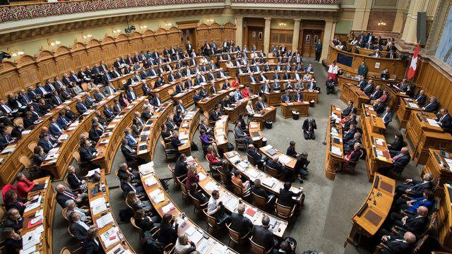 L'Assemblée fédérale. [Anthony Anex - Keystone]