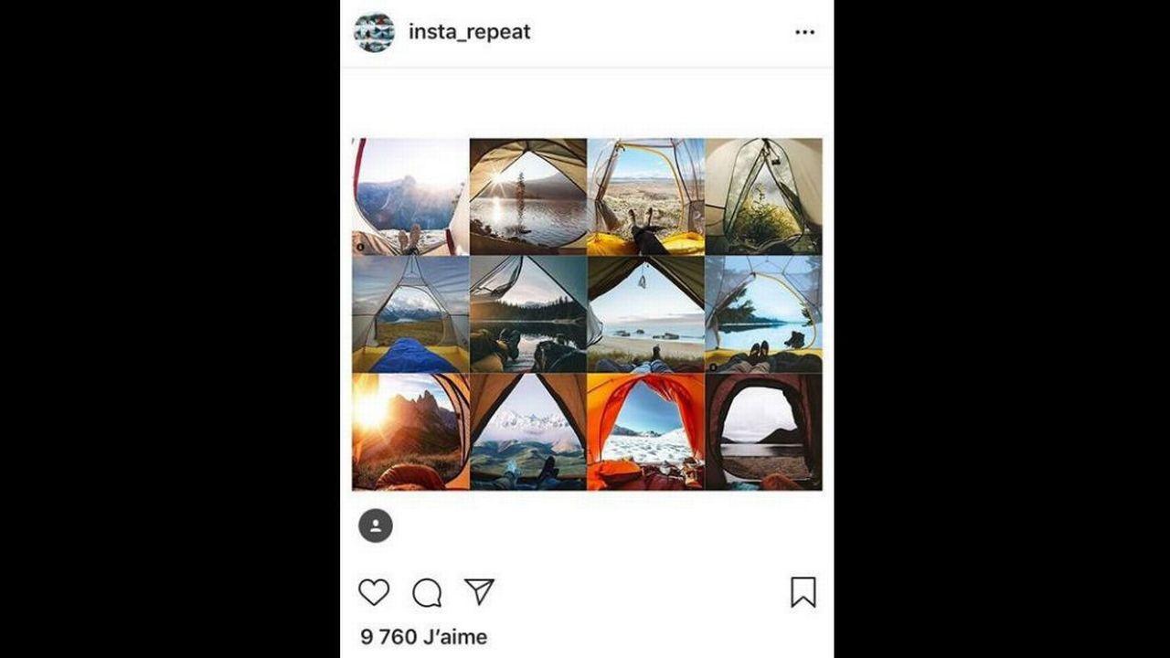 @insta_repeat publie des collections de photos identiques. [@insta_repeat]