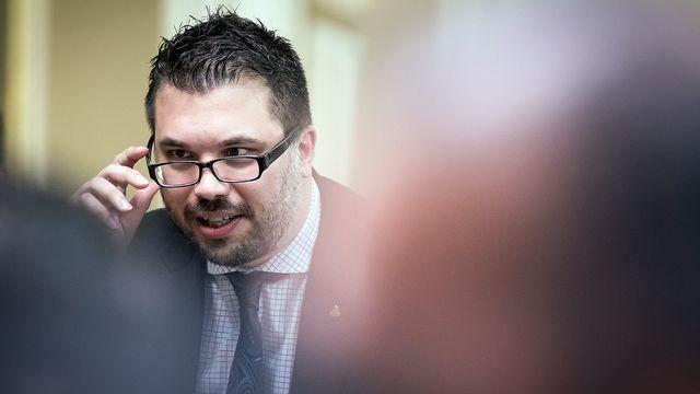 Le co-président de l'UDC du Valais romand, Jérôme Desmeules, a annoncé sa démission. [Le co-président de l'UDC du Valais romand, Jérôme Desmeules, a annoncé sa démission.]