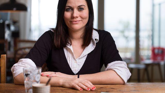 Jolanda Spiess-Hegglin, directrice de l'association #NetzCourage, en janvier 2018. [Gaetan Bally - Keystone]