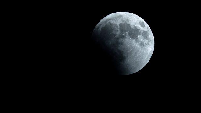 Des scientifiques de la NASA ont confirmé la présence d'eau glacée sur la Lune. [Joseph Eid - AFP]